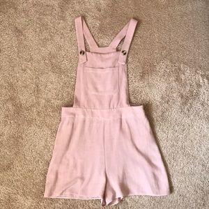Mauve pink short overalls